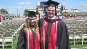 Crissey and her twin brother, Mark, on their graduation day!