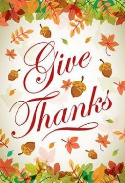 Every Day Should Be A Day Of Thanks!
