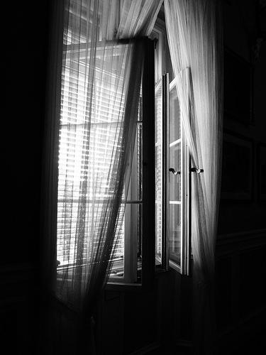 opening curtain photo